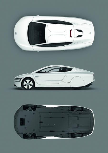 Fotos del XL1 de Volkswagen desde todas sus vistas.
