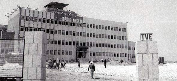 Construcción de la sede de TVE en Prado del Rey.