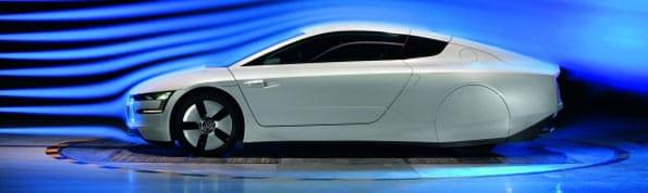 Fotos del XL1 de Volkswagen, desde un lateral.