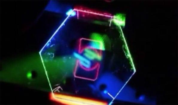 Una de las imágenes mostradas por HP para visualizar 3d en dispositivos móviles sin gafas especiales.