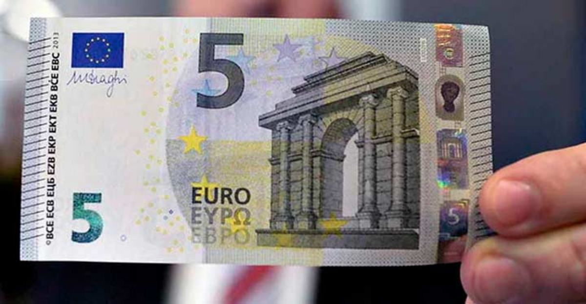 El nuevo billete de 5 euros