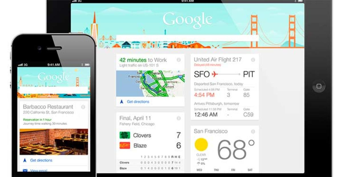 Ya está disponible Google Now para iPhone e iPad