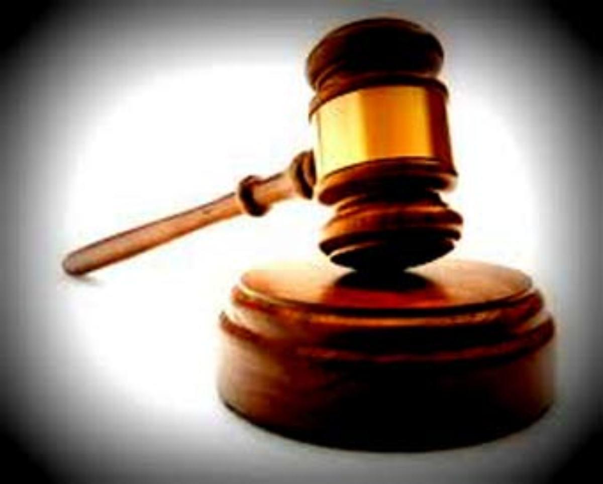 El típico mazo que representa la justicia.