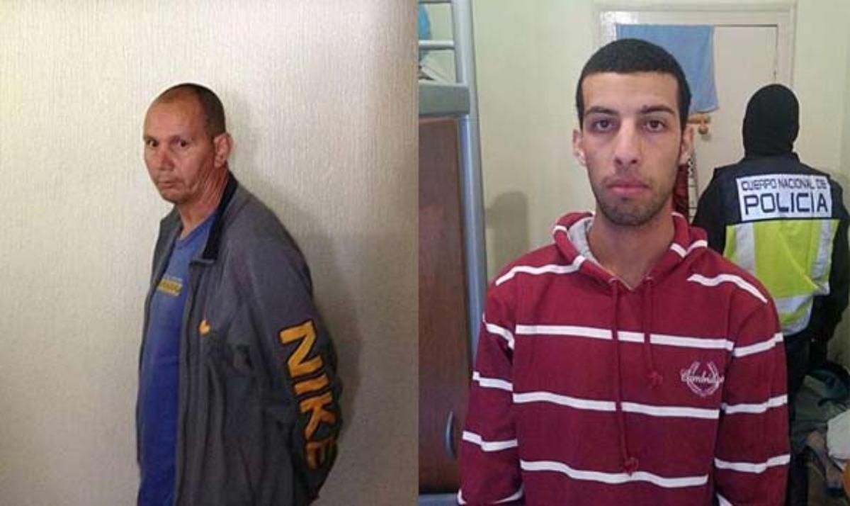 Los presuntos terroristas de Al Qaeda: Hassan El Jaaouani y Nou Mediouni.