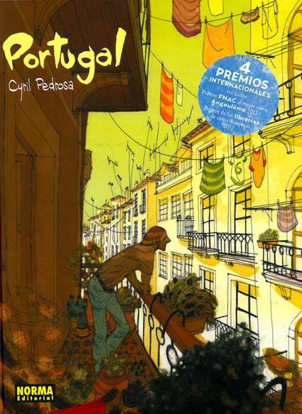 Portada de Portugal, comic de Cyril Pedrosa.