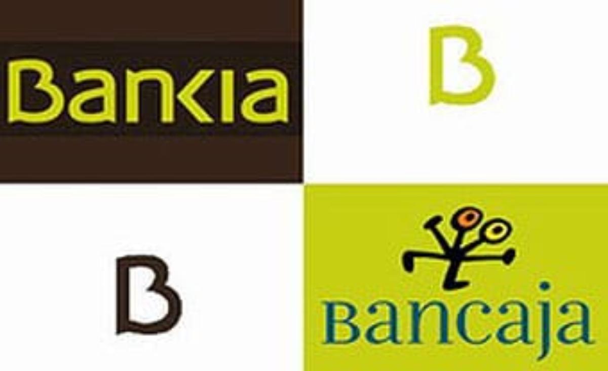 Logos de las entidades fusionadas Bankia y Bancaja.