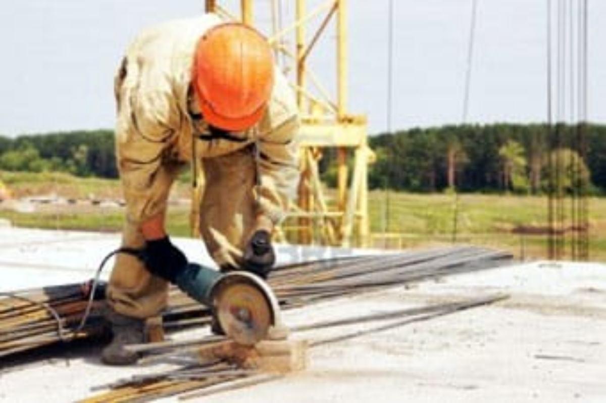 Un obrero de la construcción.