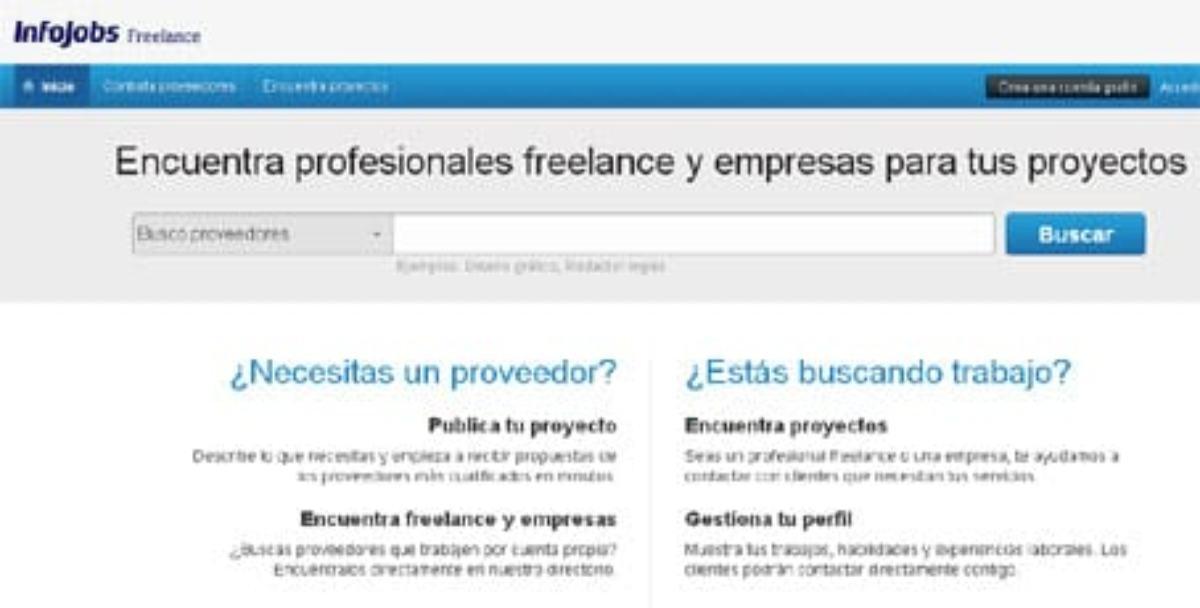 Infojobs Freelance, portal de empleo para autónomos.