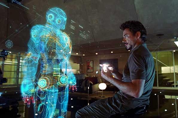 Pantalla táctil que utiliza el protagonista de la película 'Iron Man 3'.