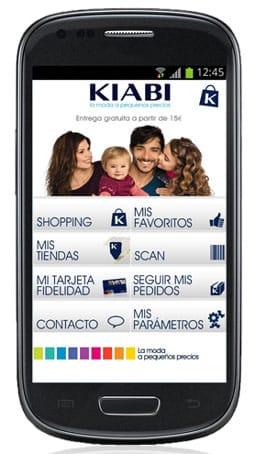 La app de tiendas Kiabi.