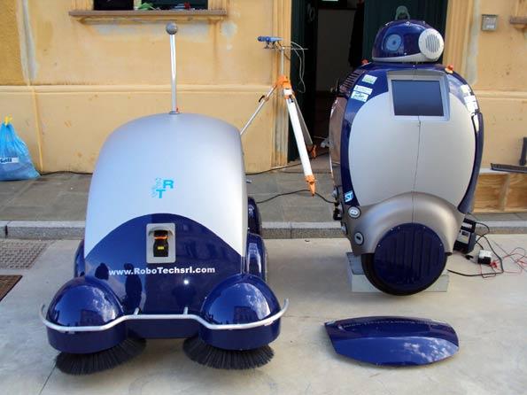 El robot limpiador Dustbot.