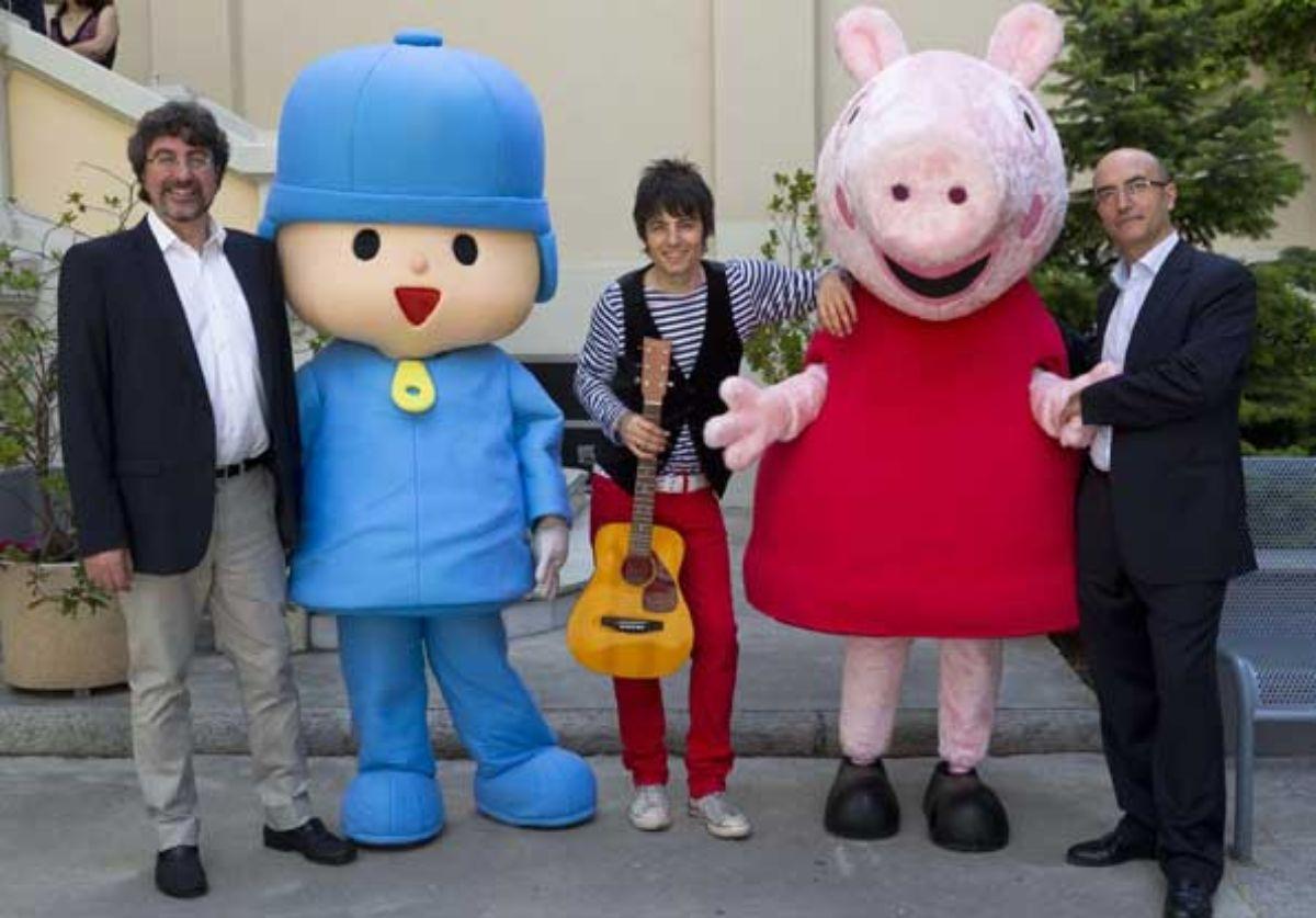 Pocoyo y Peppa Pig, del canal Clan de programación infantil de TVE.