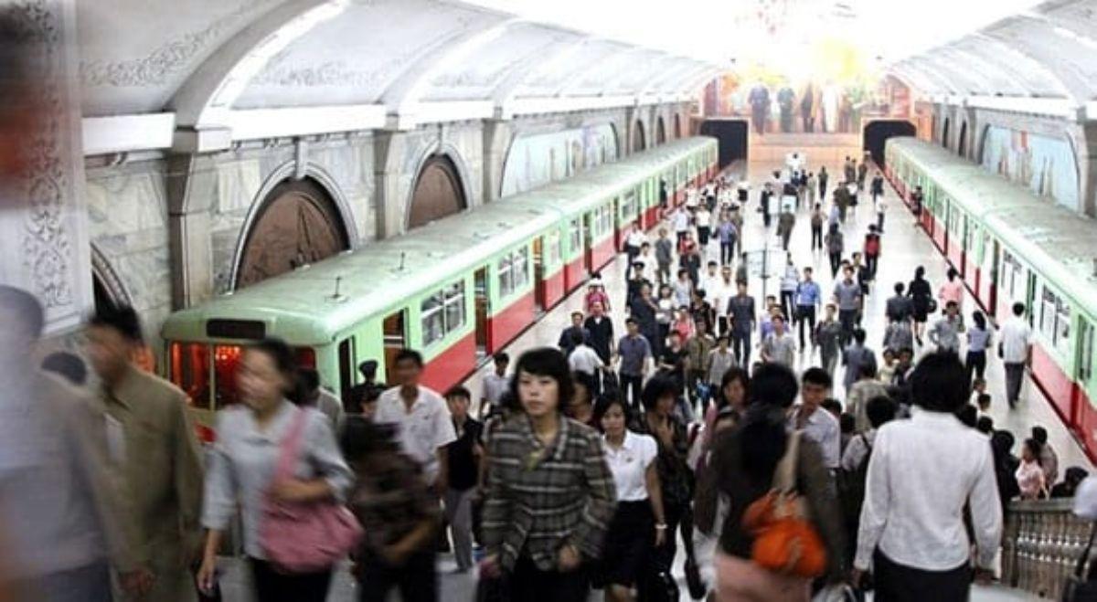 Metro en Corea del Norte.