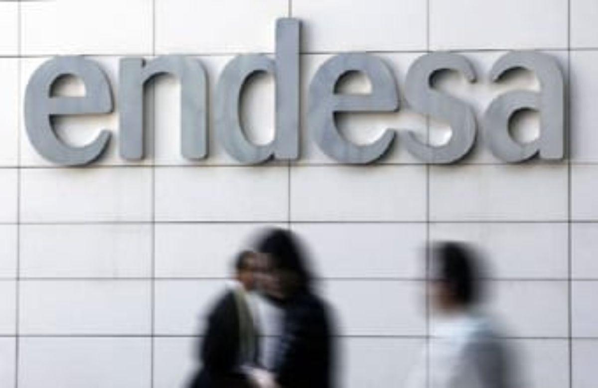 Entrada a la sede de Endesa, en Madrid.