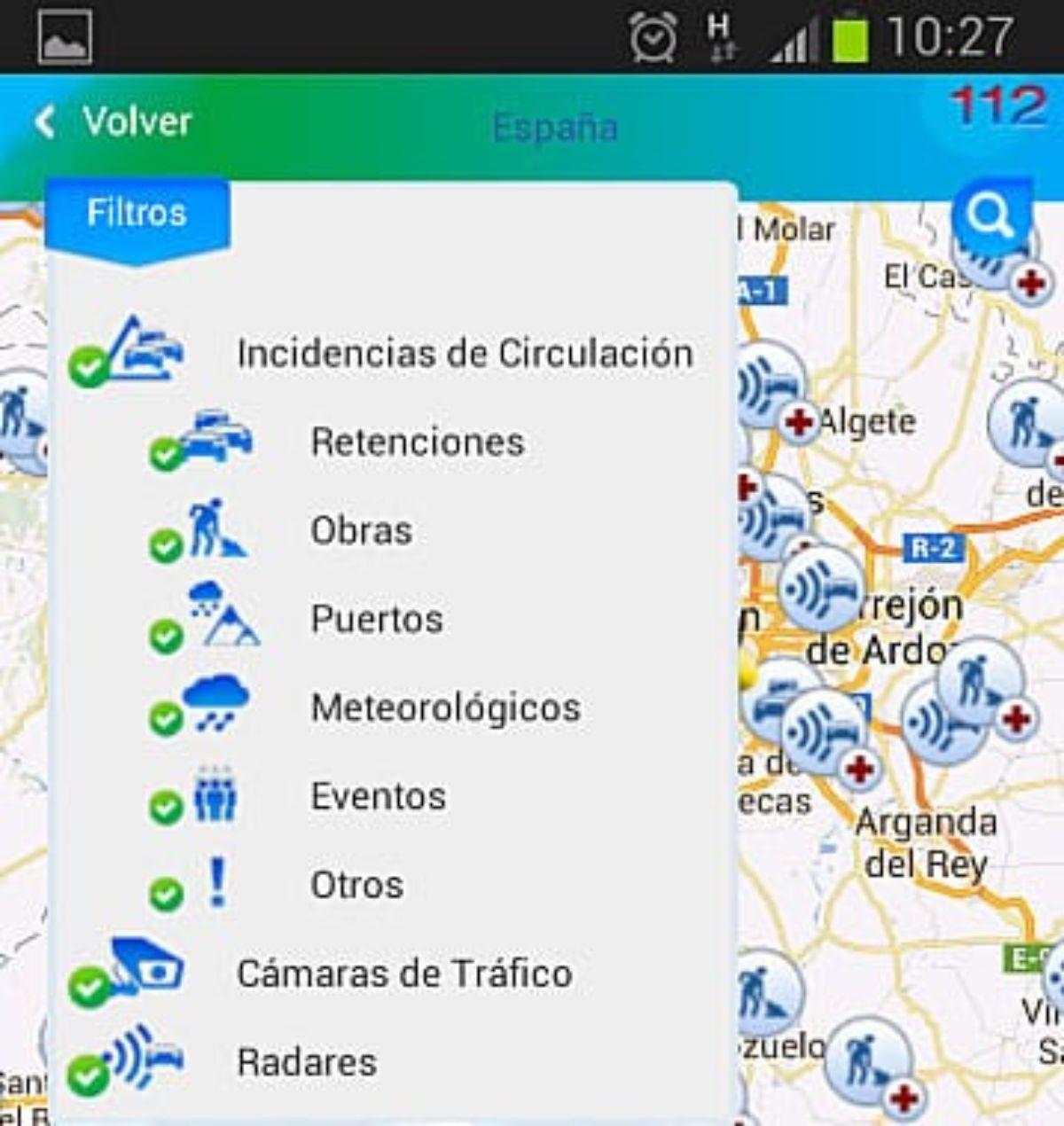 La nueva app de Tráfico.