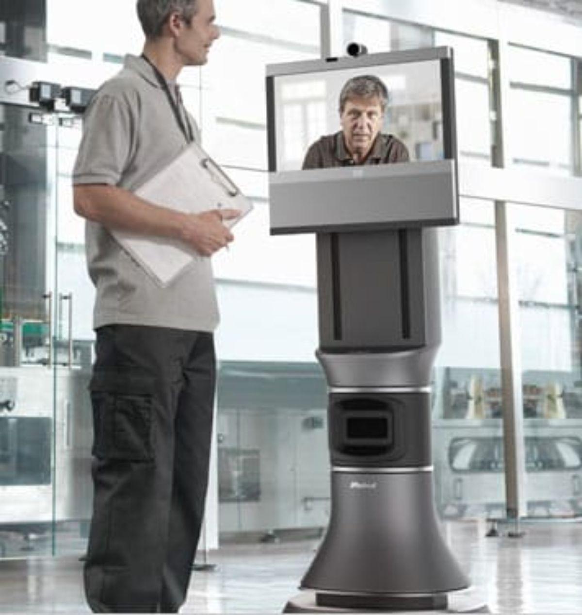 El robot de iRobot para mantener reuniones de telepresencia.