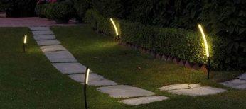 Iluminación de un jardín.