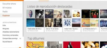 Pantallazo de Google Play Music.
