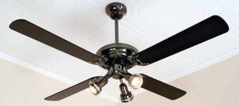 Un ventilador de techo.
