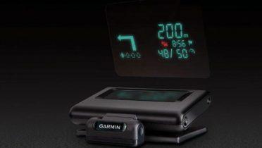 El HUD de Garmin para ver en el cristal del coche las indicaciones.
