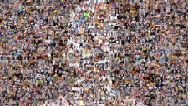 Collage de amigos de Facebook.