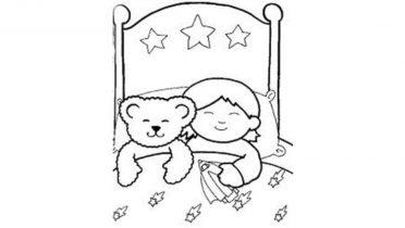Dormir un niño entre semana.