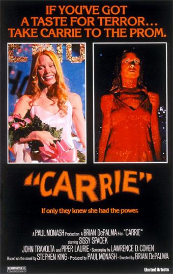 Cartel de la película 'Carrie' de 1976.