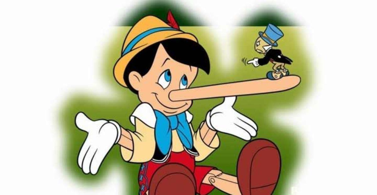 Pinocho, el personaje infantil al que le crecía la nariz cuando mentía.