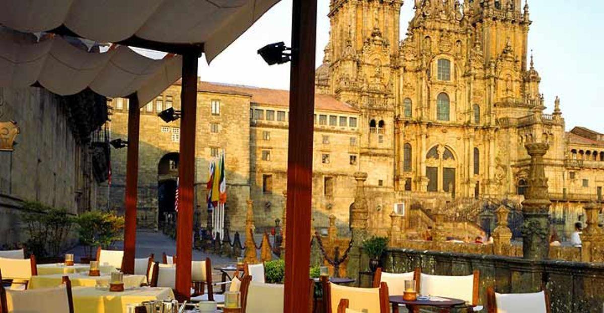 Estampa del Parador de Santiago de Compostela.