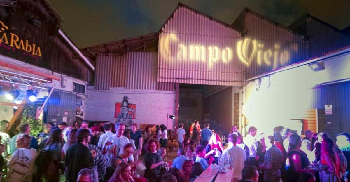 Momento de la velada en la que se celebró el evento de Campo Viejo.