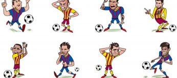 Los nuevos stickers del FC Barcelona para Facebook.