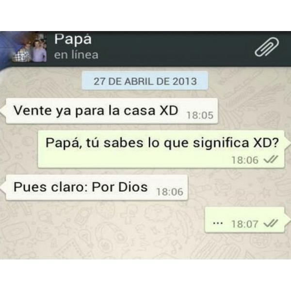Algunos padres interpretan a su manera los emoticonos del WhatsApp.