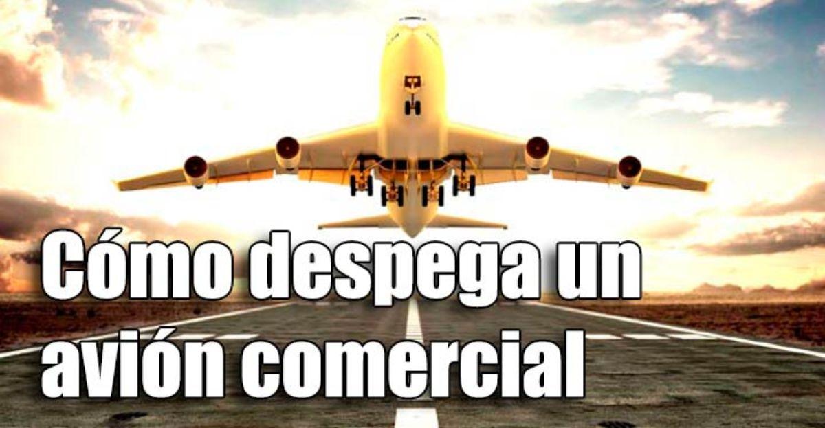 Cómo despega un avión comercial
