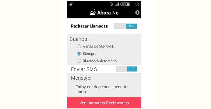Una app para rechazar llamadas al volante o avisar de que 'ya llego'-1