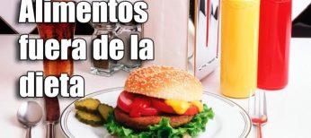 Los 10 alimentos que eliminar de la dieta para adelgazar