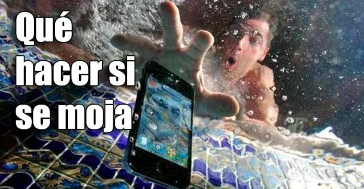 Qué hacer cuando se moja el móvil
