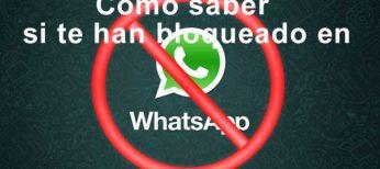 Cómo saber si te bloquearon en WhatsApp.