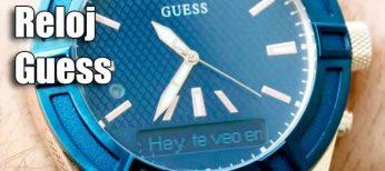 El reloj inteligente con llamadas de Guess