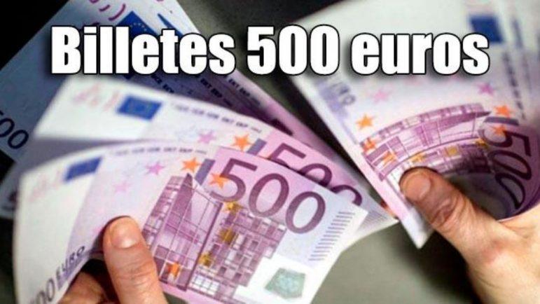 Cuántos billetes de 500 euros hay y dónde están