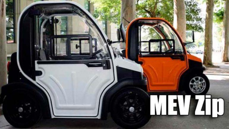 MEV Zip, el coche eléctrico y automático que se puede conducir sin carné