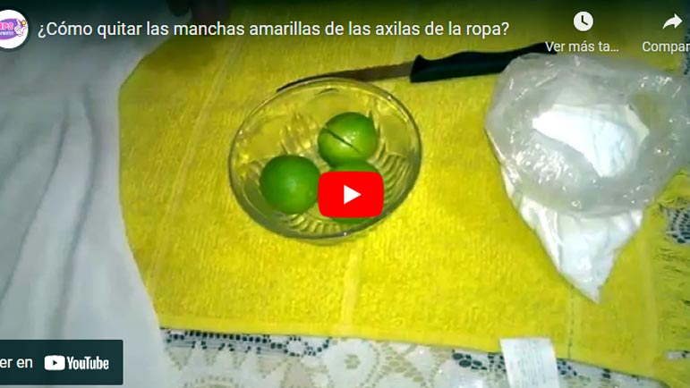 Video explicativo para quitar manchas de las axilas