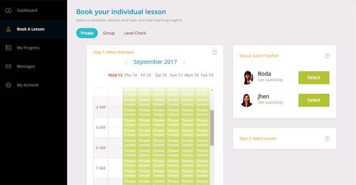 Elige a qué hora quieres tener una clase para aprender inglés con cursos online.