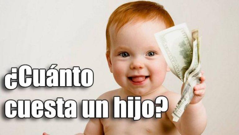Cuánto dinero cuesta un hijo cada mes