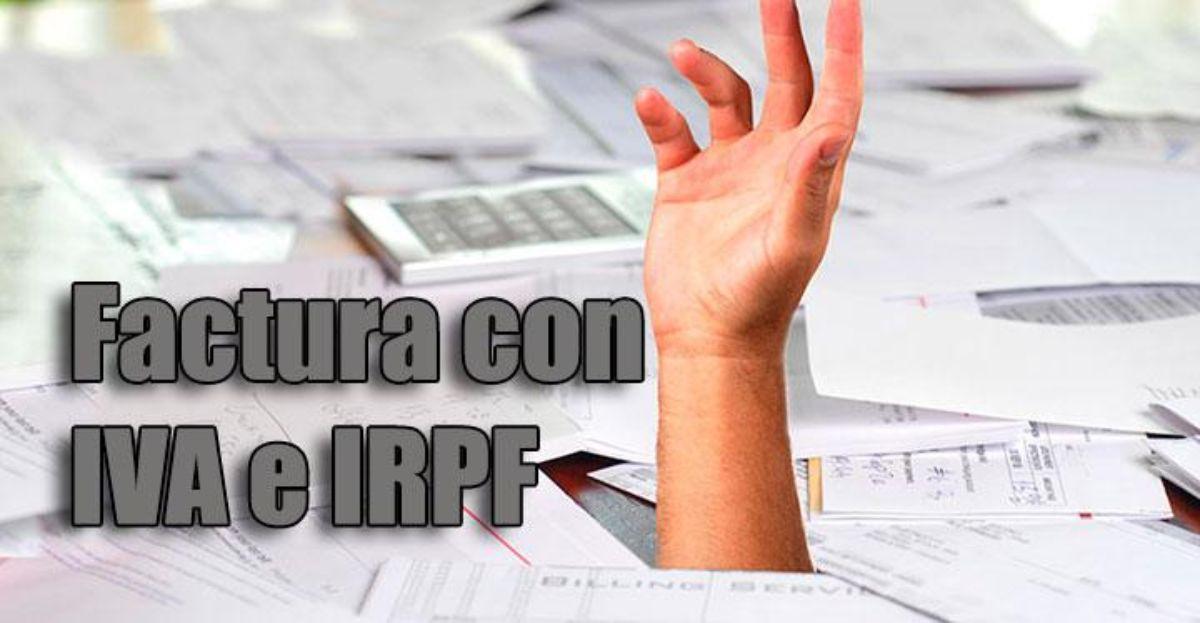 Cómo hacer una factura con IVA e IRPF