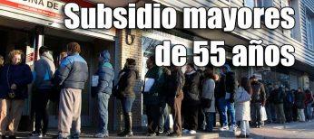 Cómo solicitar el subsidio si tengo más de 55 años