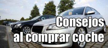 Consejos a la hora de comprar un coche
