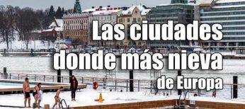 Las 7 ciudades donde más nieva en Europa