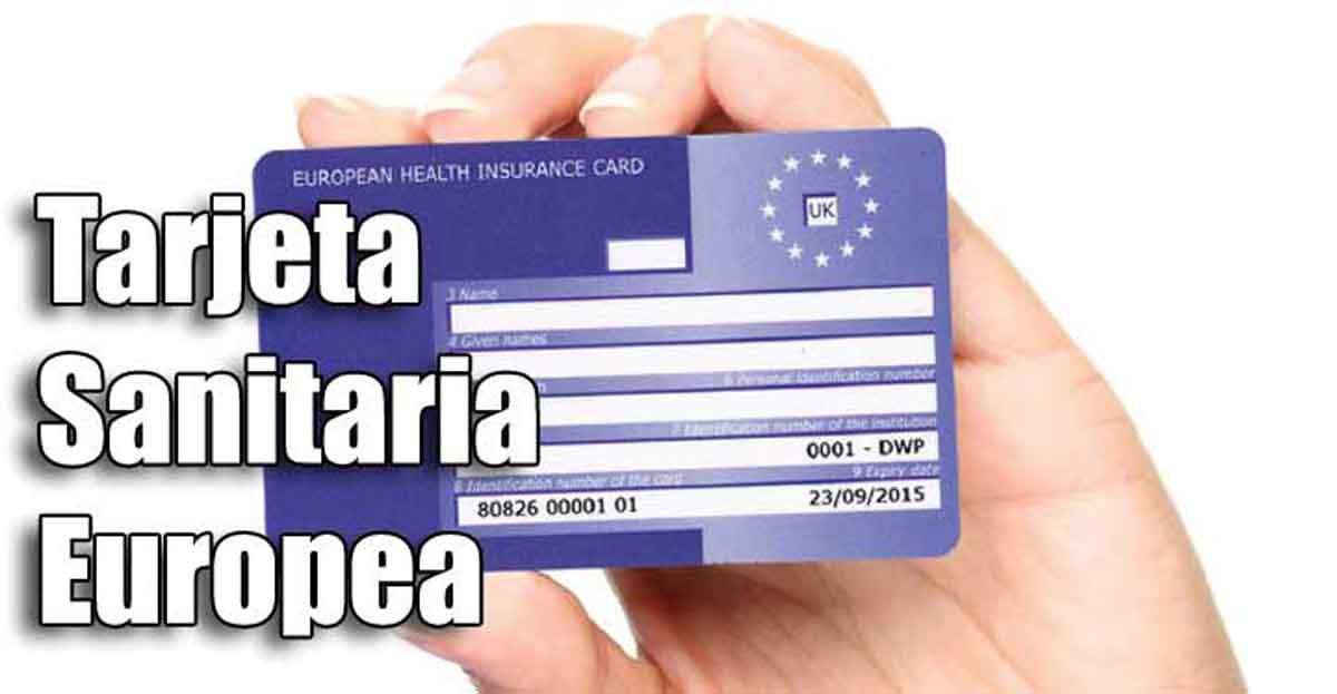Formulario solicitud tarjeta sanitaria europea