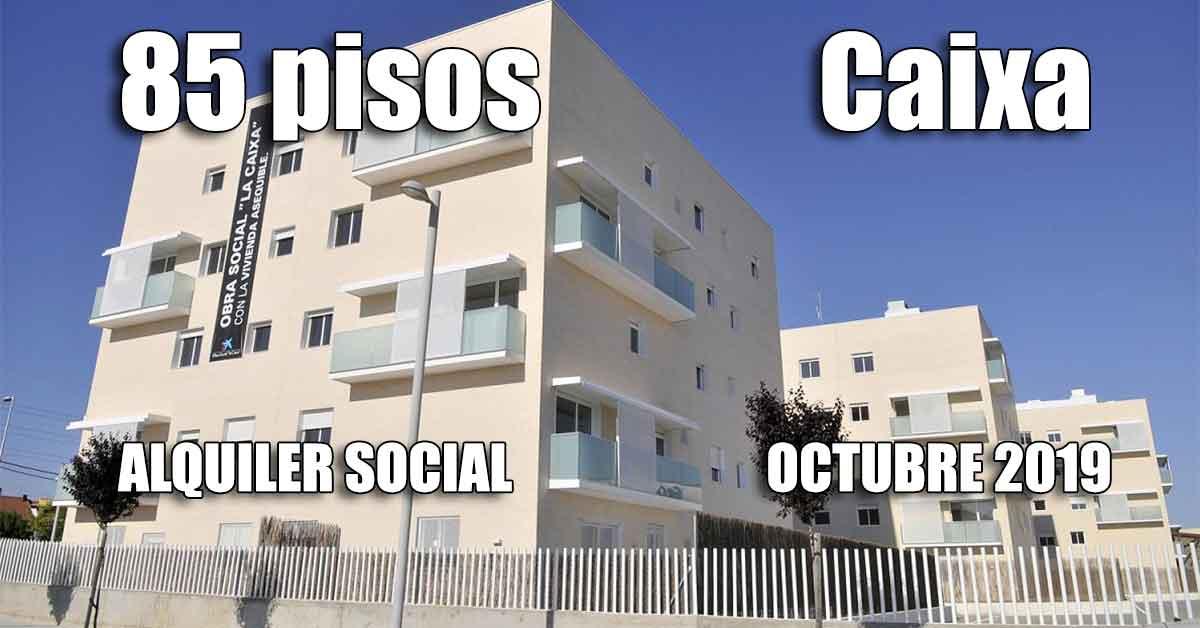 Alquiler social la Caixa octubre 2019