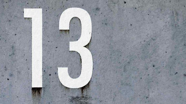 La 'mala suerte' del número 13 en la lotería de Navidad y otras cifras fetiche
